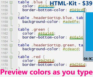 Modern HTML editor